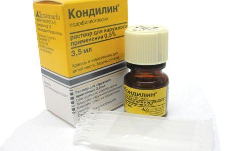 кондилин в терапии ВПЧ